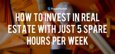 Want to build passive income through real estate but already working 40+ hours/week? Yes, it CAN be done -- in just 5 hours/week! Here's how.   ........................................................ Please save this pin... ........................................................... Because For Real Estate Investing... Visit Now!  OwnItLand.com