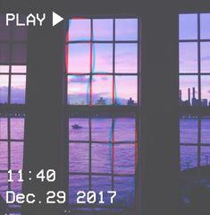 M O O N V E I N S 1 0 1     #vhs #aesthetic #purple #window #glitch #city #river