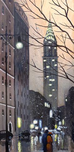 """""""A New York Evening"""" www.daverheaume.com"""