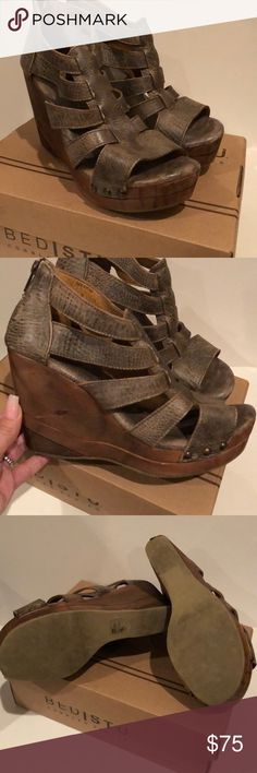 Bed Stu olinda wedge sandals Excellent condition  Worn once Bed Stu Shoes Wedges