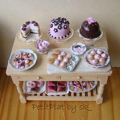 Miniature food tea party.