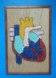 String art heart anatomy by optionsalesart on Etsy