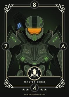 The Eminence Team wanted to pay homage to numerous gaming legends who all played a key part in our lives growing up. It's important to note that these cards will not appear in Eminence: Xander's Tales but were created merely as fan art. All the characte& Master Chief And Cortana, Halo Master Chief, Metroid Samus, Samus Aran, Halo Reach, John 117, Halo Series, Halo Game, Red Vs Blue
