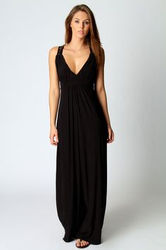 Leanne lace back maxi dress