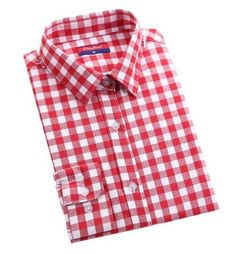 Dioufond Red Plaid Shirts Women Blouses Long Sleeve Turn-down Collar Plaid Shirts Women Casual Cotton Shirt Blusas Femininas Plaid Shirt Women, Plaid Shirts, Cotton Blouses, Cotton Shirts, Collar Blouse, Long Blouse, Try On, Blouses For Women, Shirt Style