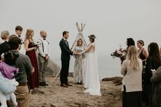 A quick lil peek at the boho magic happenin' from this dreamy cliffside wedding ceremony Wedding Blog, Fall Wedding, Wedding Ceremony, Wedding Decor, Bodega Bay, Bohemian Wedding Inspiration, Groom Style, Best Photographers, Bridal Style