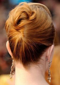 long hairstyles over 50 - french twist