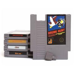 NES cartridge flask  http://www.wicked-gadgets.com/nes-cartridge-flask/  #NES #SNES #GADGETS #COOL
