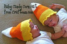 Ravelry: Baby Candy Corn Hat pattern by Tia Davis