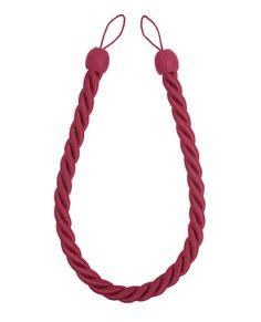 Rope Curtain Raspberry Tieback #lauraashleyhome