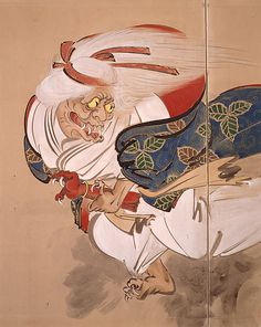 The Ibaraki Demon  Shibata Zeshin (Japanese, 1807–1891)  Period: Meiji period (1868–1912) Date: 1882 Culture: Japan Medium: Pair of two-panel folding screens; ink, color, and gold on paper