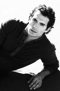 Henry Cavill in black and white