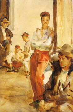 Spanish Soldiers (1902-1903) by John Singer Sargent -watercolor-  (Brooklyn Museum, Brooklyn, NY) (Viewed as part of the John SInger Sargent Watercolors Exhibit @ Musuem of Fine Arts, Boston  2014)