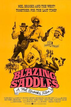 Blazing Saddles Movie Poster Gene Wilder Mel Brooks