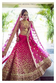 Get yourself dressed up with the latest lehenga designs online. Explore the collection that HappyShappy have. Select your favourite from the wide range of lehenga designs Indian Bridal Outfits, Indian Bridal Wear, Indian Dresses, Bridal Dresses, Pink Bridal Lehenga, Wedding Lehnga, Pink Lehenga, Anarkali Lehenga, Bollywood Lehenga