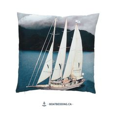 With this sailboat pillow and some other decorative accessories, you are sure to create a serene, ocean-like atmosphere right in your own home. Style Vintage, Sailboat, Own Home, Decorative Accessories, Sailing Ships, Serenity, Ocean, Create, Sailboats