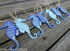 Woodworking Hacks Small Spaces Gisela Graham Wooden SEAHORSE Nautical Seaside Bunting Garland Themed Home Decor.Woodworking Hacks Small Spaces Gisela Graham Wooden SEAHORSE Nautical Seaside Bunting Garland Themed Home Decor Seahorse Decor, Fish Wall Decor, Beach Crafts, Diy Home Crafts, Arts And Crafts, Diy Clay, Clay Crafts, Wood Crafts, Deco Marine