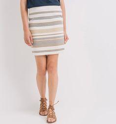 Mini-jupe droite Femme imprimé écru - Promod Bermuda Shorts, Skirts, Fall Winter, Women, Fashion, Straight Skirt, Micro Skirt, Woman, Moda