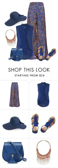 """""""The Bee's Sneeze - Flower Print Palazzo Trousers"""" by kimzarad1 ❤ liked on Polyvore featuring FRACOMINA, BP., Dorothy Perkins, Yoki and John Lewis"""
