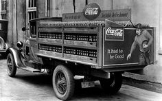 This football-themed truck hit the roads serving up Coke and happiness in 1928.