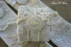 Romantic Valentine lace napkin rings ~ Decor To Adore