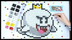 How to draw King Boo. I show you how to draw King Boo with M&Ms. Drawing King Boo with M&Ms is part of a Series of King Boo drawings and Nintendo art on the . Legend Of Zelda, King Boo, Geek Cross Stitch, Nintendo, Luigi's Mansion, Pixel Art Templates, Pixel Art Games, Speed Art, Candy Art