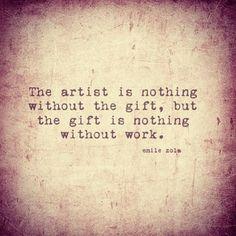 Artist, quote, gift, work