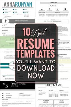 The 10 Best Resume Templates You'll Want to Download Now - Classy Career Girl: http://itz-my.com