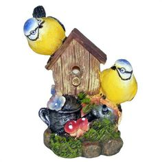 Pair of Bluetits with a Nesting Box - Singing Bird Garden Ornament with Sound Listing in the Other,Ornaments,Garden, Yard & Plants,Home & Garden Category on eBid United Kingdom | 98324297