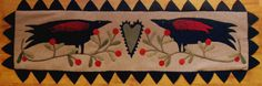 Wool Applique Pattern  Two Old Crows Pattern by FiddlestixDesign, $8.00