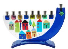 Colorz4you - Shofar Jerusalem Houses Glass Menorah, $124.99 (http://www.colorz4you.com/shofar-jerusalem-houses-glass-menorah/)