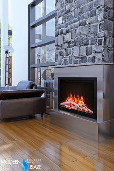 Give an old fireplace a new look and get modern features with traditional looking electric log set or insert. Bioethanol Fireplace, Old Fireplace, Electric Logs, Fireplace Inserts, New Builds, Electric Fireplaces, Modern Fireplaces, House Design, Traditional