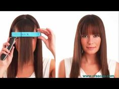 CreaClip - How to cut BANGS tutorial - Straight, textured and Side swept bangs.