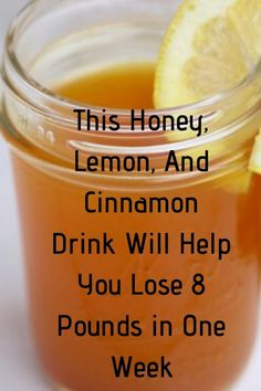 This Honey, Lemon, And Cinnamon Drink Will Help You Lose 8 Pounds in One Week – detox drinks fat burning Weight Loss Meals, Weight Loss Drinks, Weight Loss Smoothies, Healthy Weight Loss, Drinks To Lose Weight, Bebidas Detox, Lemon Drink, Lemon Benefits, Smoothie Detox