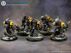 Den of Imagination - Gallery Warhammer 40k Space Wolves, Wolf Painting, Warhammer 40k Miniatures, Painting Services, Crusaders, Warhammer 40000, Space Marine, Marines, Den