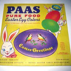 Vintage egg dye