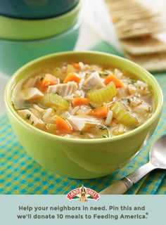 We've got the ultimate shortcut for comforting soup. Learn more about Pin a Meal. Give a Meal. and Feeding America® at LandOLakes.com/pinameal. (Pin any Land O'Lakes recipe or submit any recipe pin at LandOLakes.com/pinameal.)