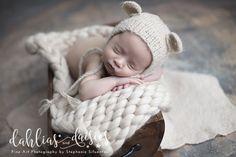 Plano Newborn Photographer, teddy bear, wood, wooden crate