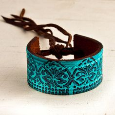 turquoise & brown bracelet