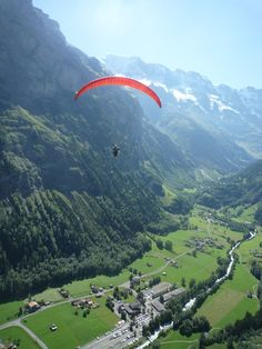 Paraglide in Switzerland! Terrified of heights, but I would TRY!