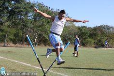 Jair García, en el entrenamiento del CF Méridsa