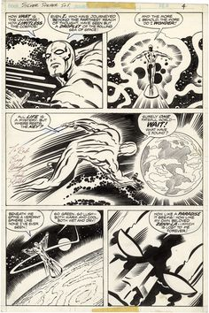 The Silver Surfer, Graphic Novel, Issue 1, Page 4 - Pencils by Jack Kirby, Inks by Joe Sinnott