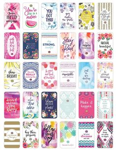 bloom daily planners Belief Card Deck - Cute Inspirational Quote Cards - Just Because Cards - Set of Thirty x Cards - Assorted Designs Cute Inspirational Quotes, Best Positive Quotes, Inspiring Sayings, Book Journal, Journal Cards, Bullet Journal, Deck Of Cards, Card Deck, Art Therapy Projects