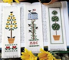 Blooming Bookmarks Cross Stitch