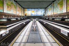 Wien: Die Ästhetik der U-Bahn - Reiseblog von Christian Öser U Bahn, Central Station, Places, Architecture