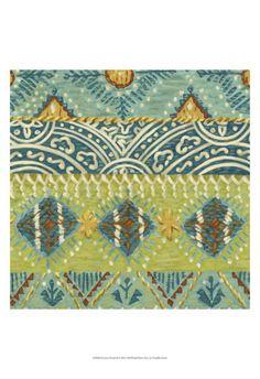 Eastern Textile II Print by Chariklia Zarris at Art.com