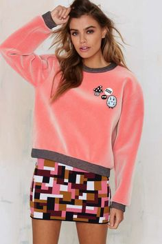 American Retro Cheat Code Velvet Sweater | Shop Clothes at Nasty Gal!