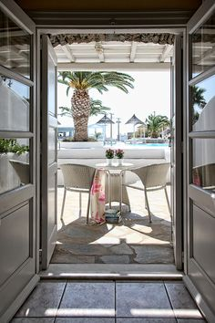 Palladium, Mykonos - Deluxe room with pool view Mykonos Hotels, Beach Hotels, Double Room, Greece, Places To Go, Adventure, Luxury, Water, House