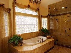 Lovely bath idea! Grand Vizcaya Mus Master Bath Jacuzzi tub and separate shower.  http://facebook.com/amiebozemanrealtor