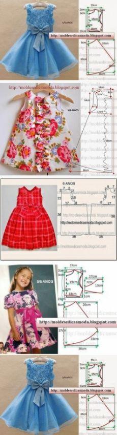 Шьем платья для девочек
